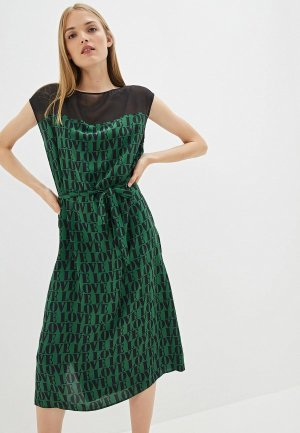 Платье Calvin Klein Andy Warhol. Цвет: зеленый