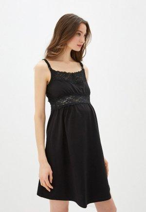Сорочка ночная Hunny mammy. Цвет: черный