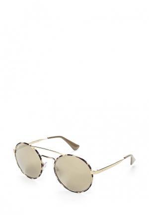 Очки солнцезащитные Prada PR 51SS UAO1C0. Цвет: золотой