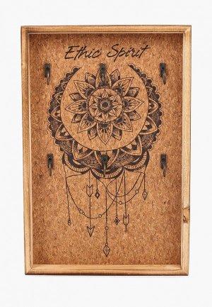 Ключница Русские подарки. Цвет: коричневый