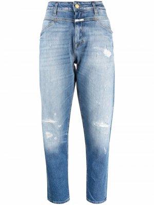Зауженные джинсы средней посадки Closed. Цвет: синий