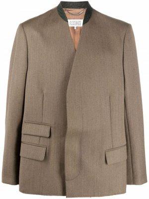 Пиджак с декоративной строчкой Maison Margiela. Цвет: нейтральные цвета