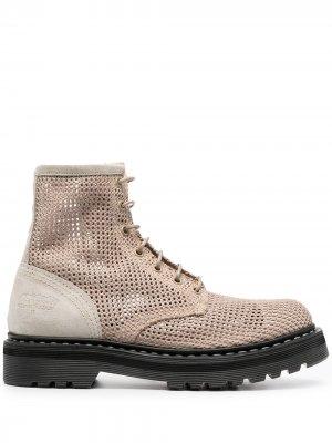 Массивные ботинки на шнуровке Premiata. Цвет: нейтральные цвета