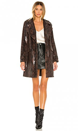 Пальто bree NBD. Цвет: коричневый