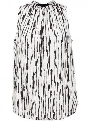 Блузка без рукавов с абстрактным принтом Jason Wu. Цвет: белый