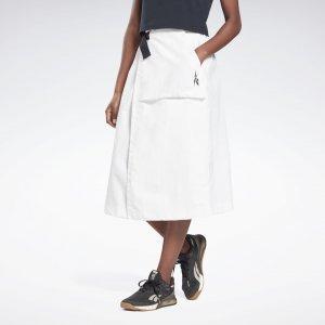 Юбка Fashion Layering Reebok. Цвет: white