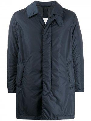 Однобортное пальто IMPERIAL Mackintosh. Цвет: синий