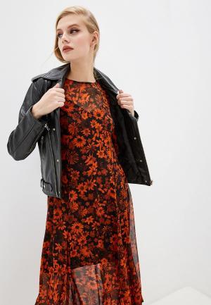 Куртка кожаная McQ Alexander McQueen. Цвет: черный
