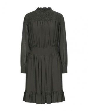 Платье до колена FRACOMINA. Цвет: зеленый-милитари