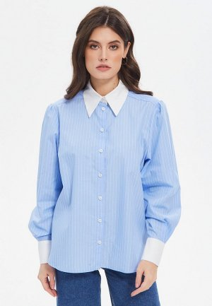 Рубашка The Kravets. Цвет: голубой