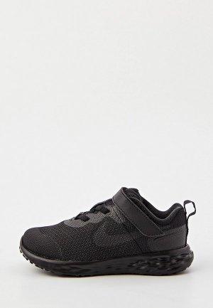 Кроссовки Nike REVOLUTION 6 NN (TDV). Цвет: черный