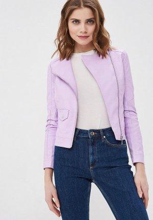 Куртка кожаная Z-Design. Цвет: фиолетовый