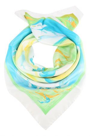 Платок F.FRANTELLI. Цвет: белый, голубой, зеленый
