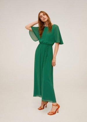 Длинное струящееся платье - Duddy-a Mango. Цвет: зеленый