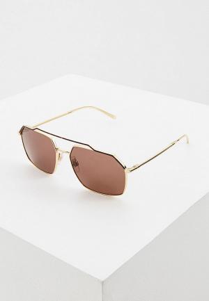 Очки солнцезащитные Dolce&Gabbana DG2250 134373. Цвет: золотой