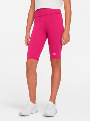 Бриджи для девочек Sportswear, размер 137-146 Nike. Цвет: розовый
