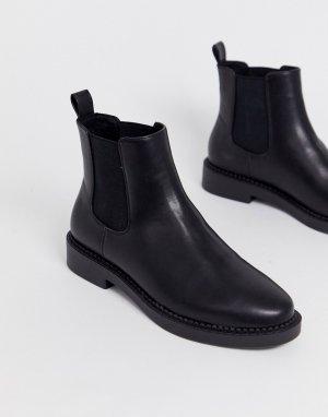 Черные ботинки челси Auto-Черный ASOS DESIGN