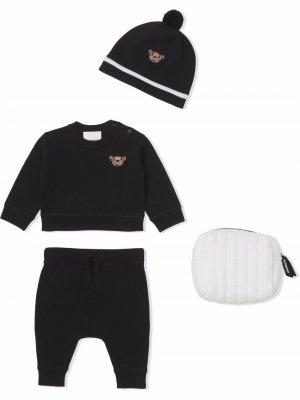 Подарочный комплект Thomas Bear для новорожденного Burberry Kids. Цвет: черный