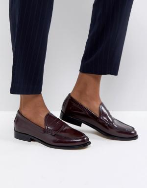 Кожаные сандалии ASOS MEZZO Premium DESIGN. Цвет: красный