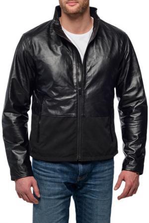 Кожаная куртка Mauritius. Цвет: черный