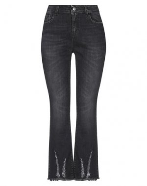 Джинсовые брюки JIJIL. Цвет: стальной серый