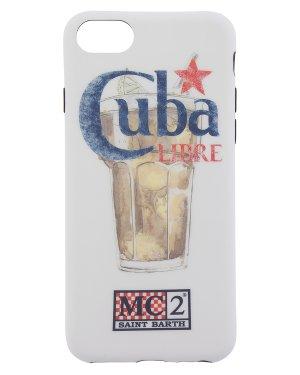 Чехол для iPhone CUBA UNI белый+принт MC2 Saint Barth. Цвет: белый+принт