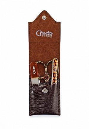 Маникюрный набор Credo CR576MUJH430. Цвет: коричневый