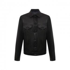 Кожаная куртка Yohji Yamamoto. Цвет: чёрный