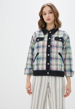 Куртка джинсовая Wrangler. Цвет: разноцветный