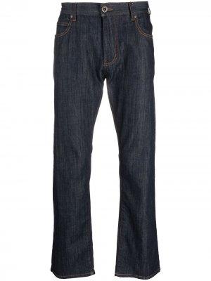 Прямые джинсы Emporio Armani. Цвет: синий