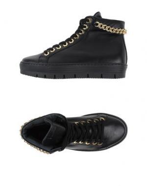 Высокие кеды и кроссовки HENNE. Цвет: черный