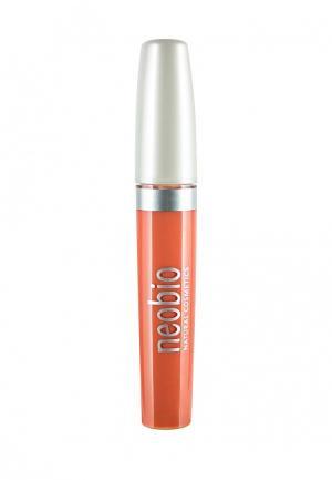 Блеск для губ Neobio 02 светло-персиковый  , 8 мл. Цвет: коралловый