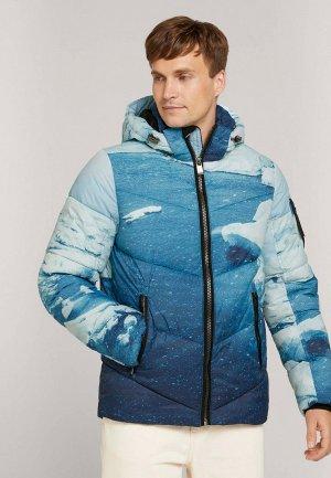 Куртка утепленная Tom Tailor. Цвет: синий