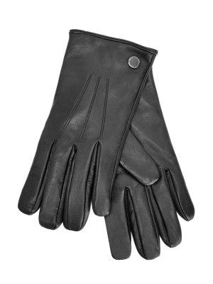 Перчатки из кожи наппа с литой фурнитурой MORESCHI. Цвет: синий
