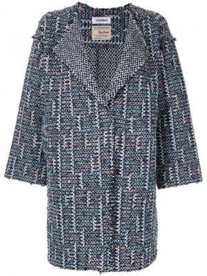 Твидовое пальто Spring Air COOHEM. Цвет: синий