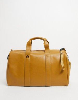 Кожаная спортивная сумка Smith & Canova-Коричневый цвет And Canova