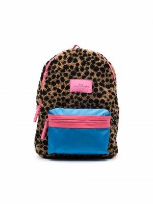Рюкзак с леопардовым принтом The Marc Jacobs Kids. Цвет: коричневый