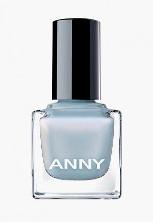 Лак для ногтей Anny тон 402.20 голубой с розовой искрой. Цвет: голубой