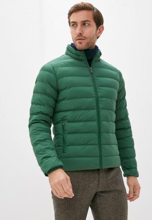 Куртка утепленная Hackett London. Цвет: зеленый