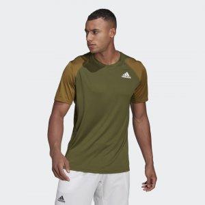 Футболка для тенниса Club Performance adidas. Цвет: белый