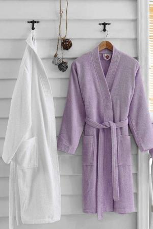 Комплект для ванной Cotton box. Цвет: lilac, white