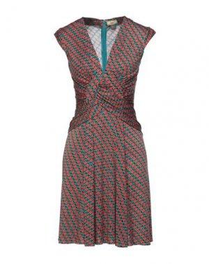 Короткое платье ISSA. Цвет: цвет морской волны