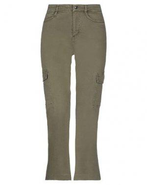 Повседневные брюки DRYKORN. Цвет: зеленый-милитари