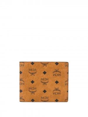 Бумажник с логотипом MCM. Цвет: коричневый