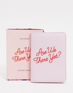 Обложка для паспорта Yes Studio-Розовый Wild & Wolf