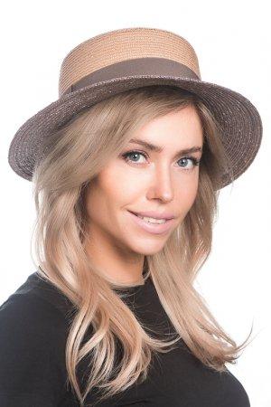 Шляпа Tonak. Цвет: соломенный,кофейный