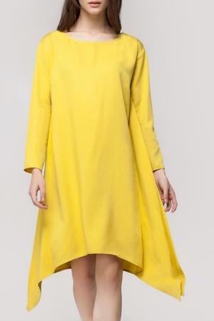 Платье VILATTE. Цвет: желтый