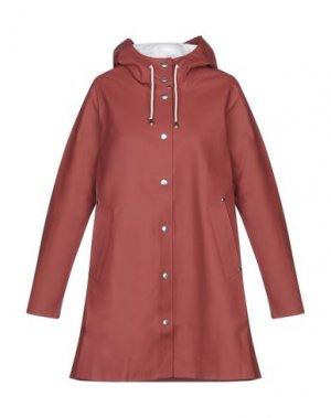 Легкое пальто STUTTERHEIM. Цвет: кирпично-красный