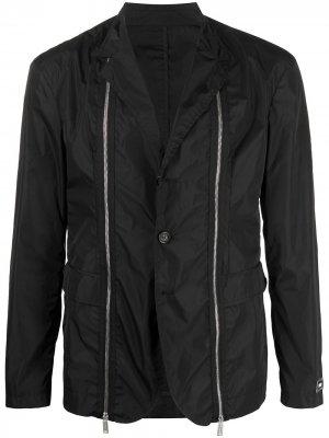 Пиджак с жатым эффектом Dsquared2. Цвет: черный