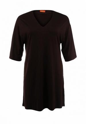 Платье Анна Чапман. Цвет: коричневый